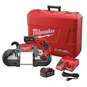 Milwaukee M18 FUEL Cordless Lithium-Ion Deep Cut Band Saw with 2 XC 4.0 Ah Batteries
