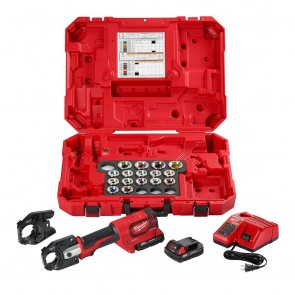 Milwaukee M18 FORCE LOGIC 600 MCM CU Crimper Kit w/750 MCM Expanded Jaw