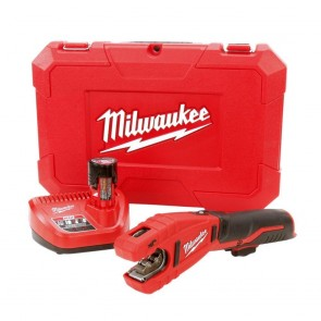 Milwaukee M12 Cordless Copper Tubing Cutter Kit W/ (1) 1.5Ah Battery, Charger & Hard Case