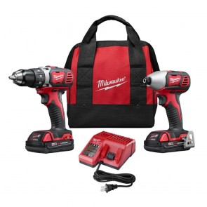Milwaukee M18 Cordless Lithium-Ion 1/2 in. Drill Driver and 1/4 in. Impact Driver High Performance Combo Kit