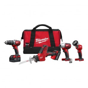 Milwaukee M18 Cordless Lithium-Ion 4-Tool Combo Kit