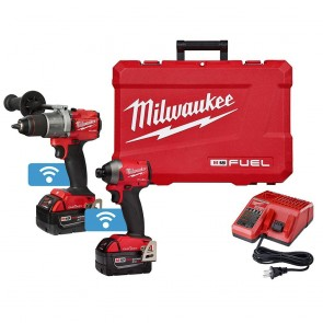 Milwaukee M18 FUEL 2-Tool Hammer Drill & Impact Driver w/One Key Combo Kit