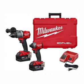 Milwaukee M18 FUEL 18-Volt Lithium-Ion Brushless Cordless Hammer Drill & Impact Driver Combo Kit