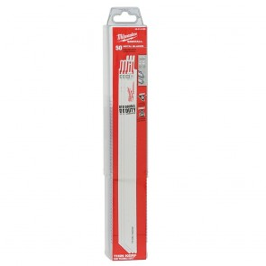 "Milwaukee 12"" x 18TPI Bi-Metal Super Sawzall Blade 50-Pack"