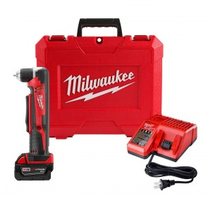 Milwaukee M18 Cordless Lithium-Ion 3/8 in. Right Angle Drill Driver Kit
