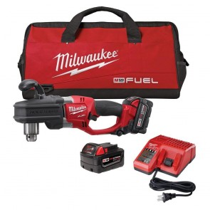 Milwaukee M18 FUEL Cordless Lithium-Ion HOLE HAWG 1/2 in. Right Angle Drill Kit