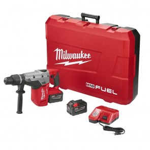 Milwaukee M18 FUEL 9.0 Ah Cordless Lithium-Ion 1-9/16 in. Rotary Hammer Kit with 2 Batteries