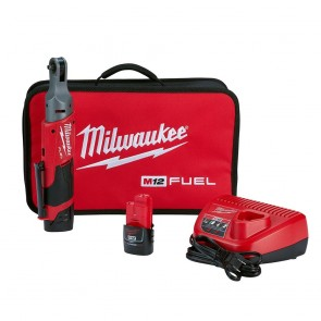 Milwaukee M12 FUEL 1/4 Ratchet Kit w/ 2 Batteries