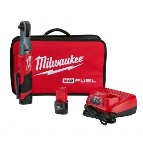 Milwaukee M12 Fuel 3/8 Ratchet Kit w/ 2 Batteries