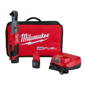 Milwaukee M12 Fuel 1/2 Ratchet Kit w/ 2 Batteries