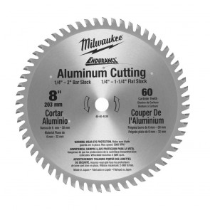 Milwaukee 8 in. x 60 Tooth Aluminum Metal Cut Circular Saw Blade