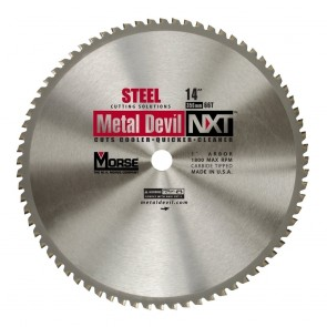 "MK Morse 14"" Carbide, 60T Metal Cutting Circular Saw Blade"