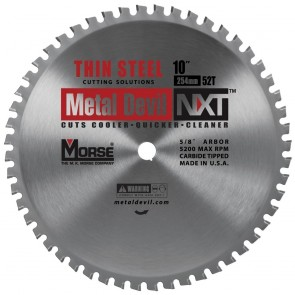"10"" 52T Metal Devil Thin Steel Cutting Circular Saw Blades"