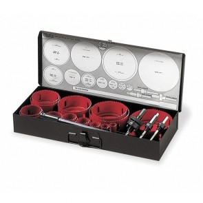 "MK Morse 19-Piece Hole Saw Kit for Wood, Range of Saw Sizes: 3/4"" to 4-1/2"""