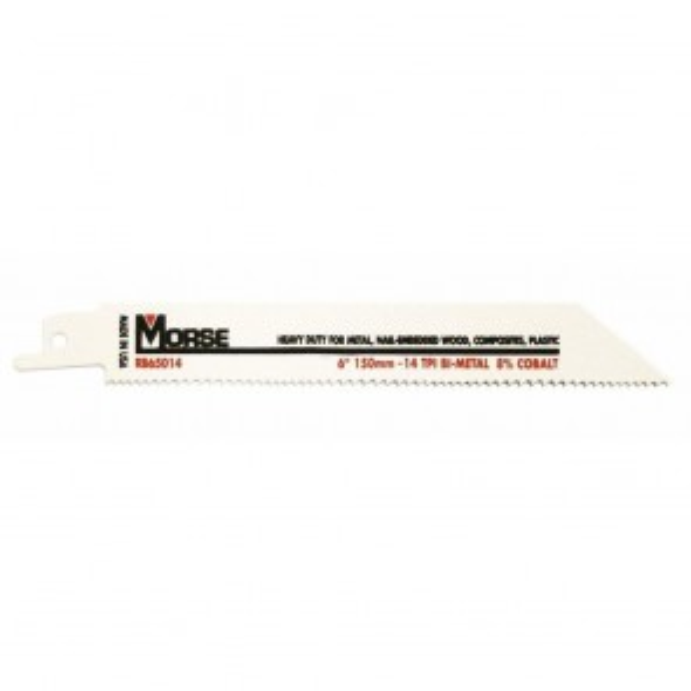 "MK Morse 6"" X 3/4"" X .050"" 14 TPI Master Cobalt Bi-Metal Reciprocating Saw Blades"