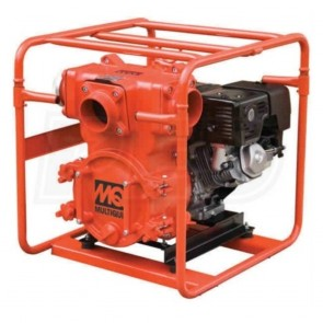 "Multiquip Trash Pump 4"" Suction 555 GPM 92' Honda GX340"