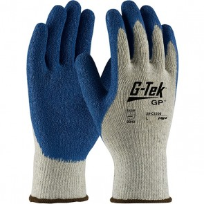 PIP G-Tek® GP™ Seamless Knit Cotton / Polyester Glove with Latex Coated Crinkle Grip on Palm & Fingers - Premium Grade, X-Large, 12 PK