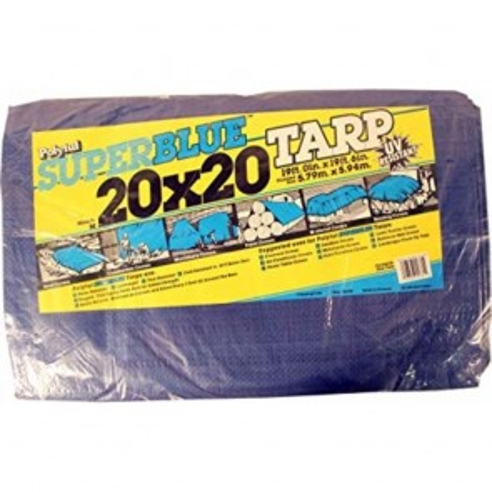 Polytuf 20' x 20' Blue Tarp