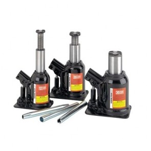 Power Team 20 Ton Capacity Low Profile Bottle Jack 3 3/8 Inch Stroke
