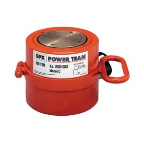 "Power Team 100 Ton Cylinder, Single Acting, 2-1/4"" Stroke"