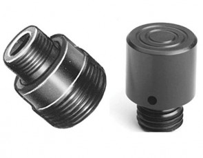 "Power Team Threaded Adapter for Mounting Accessories, 1 13/16"" Length, 1 1/16"" Width, 10 or 15 Cylinder Tons"
