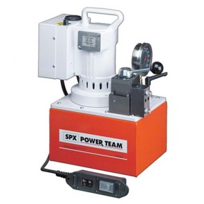 Power Team Electric Portable Pump for Single Acting Cylinders 3-WAY VALVE