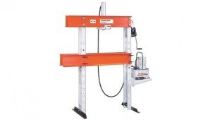 "Power Team H Frame Open Throat Press Clamp, Single Acting, 25 Ton Capacity, 14 1/4"" Stroke"