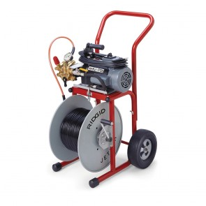 "Ridgid 2.0 HP Water Jetter (w/ 110' x 1/2"" Jet Hose and Cart)"