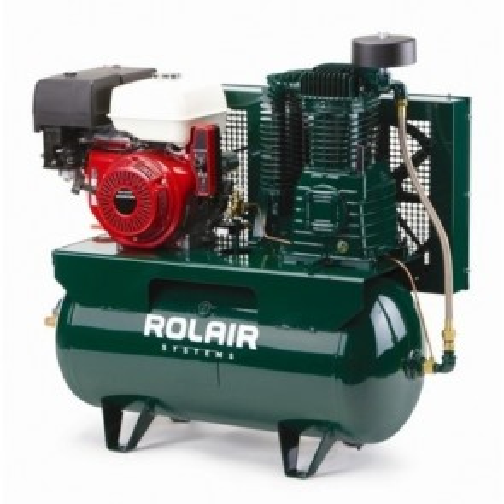 RolAir 13 HP Electric-Start Honda, 23 CFM@175PSI, 30 Gallon Truck-Mount Compressor
