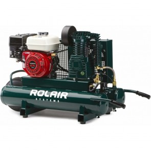 RolAir 5.5 HP Honda, 9.3 CFM@90PSI, 9 Gallon Twin Tank Compressor
