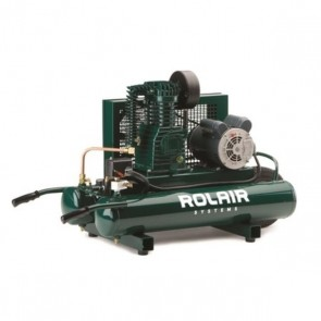 RolAir 1.5 HP (115V), 7.3 CFM@90PSI, 9 Gallon Twin Tank Compressor