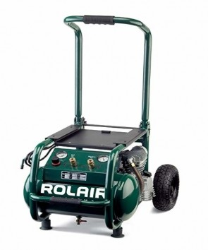 RolAir 2.5 HP (115V) 6.5 CFM@90PSI, 5.3 Gallon Cart Compressor w/Folding Handle