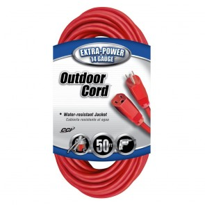 Southwire 14/3 50' SJTW Red Extension Cord
