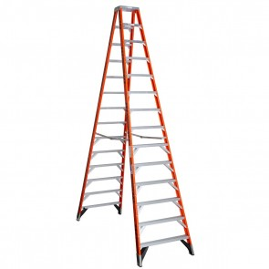 Werner 14ft Type IAA Fiberglass Twin Ladder