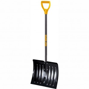 True Temper 18 Inch Steel Snow Shovel with D-Grip