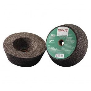 "United Abrasives 6"" X 2"" X 5/8"" - 11 Type 11 SAIT C16 Silicon Carbide Concrete Cup Stone"