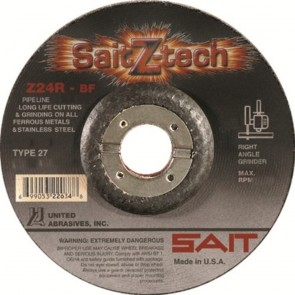 "United Abrasives/ SAIT 5"" X 1/8"" X 7/8"" SaitZ-tech™ Zirconium Type 27 Cut Off Wheel Z24R"