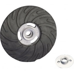 "United Abrasives/SAIT 4 1/2"" X 5/8"" Rubber Spiralcool™ Medium Density Backing Pad (Resin Fiber Discs)"