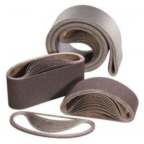United Abrasives 4in X 24in 120 Grit Blue Line Sanding Belt AOX