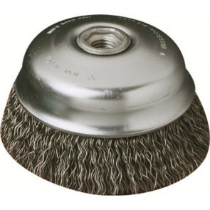 United Abrasives/SAIT 4-Inch x .020-Inch x 5/8-11 Knot Wire Wheel 1 Row Cup Brush