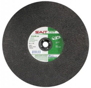 "United Abrasives/SAIT 14"" X 1/8"" X 1"" C24R 24 Grit Silicon Carbide Type 1 Cut Off Wheel"