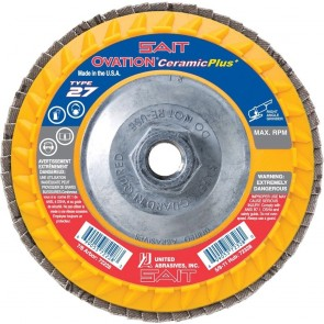 "United Abrasives/SAIT 4-1/2"" x 5/8""-11 Type 27 Coarse 36-Grit Zirconium Flap Disc"