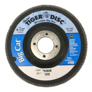"Weiler 4-1/2"" Big Cat Abrasive Flap Disc"