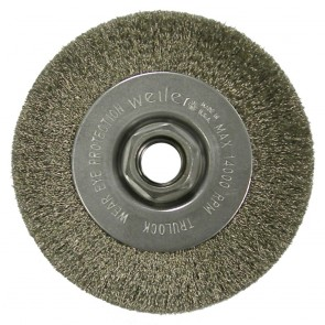 """Weiler 4"""" Narrow Face Crimped Wire Wheel"""