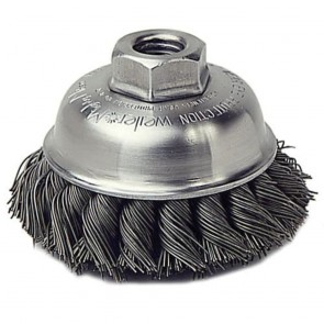 "Weiler 3-1/2"" Single Row Knot Wire Cup Brush"