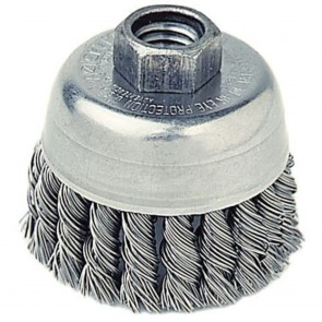 "Weiler 2-3/4"" Single Row Knot Wire Cup Brush"