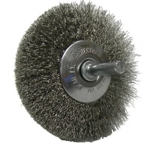 """Weiler 3"""" Stem-Mounted Concave Crimped Wire Wheel"""
