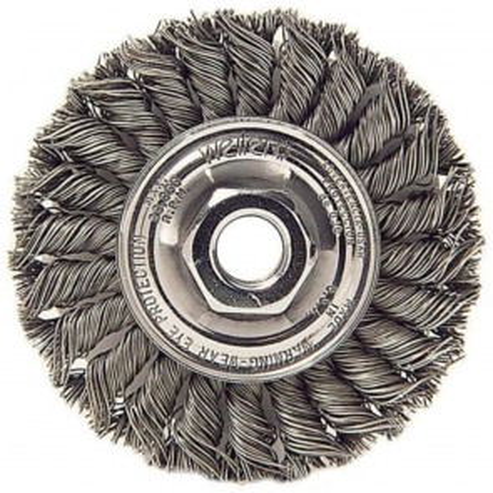 """Weiler 4"""" Standard Twist Knot Wire Wheel"""