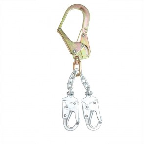 Werner 18in Chain Rebar Positioning Lanyard (Chain, 2 Snap Hook, Rebar Hook)