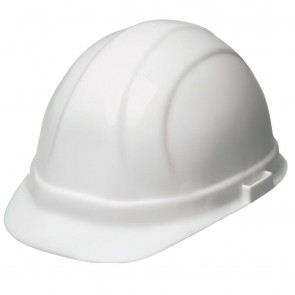 ERB Omega II Hard Hat - 6-Point Ratchet Suspension – White